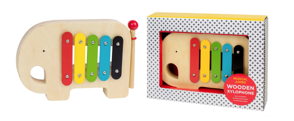 Recalled Wild & Wolf Petit Collage Xylophone due to choking haazard