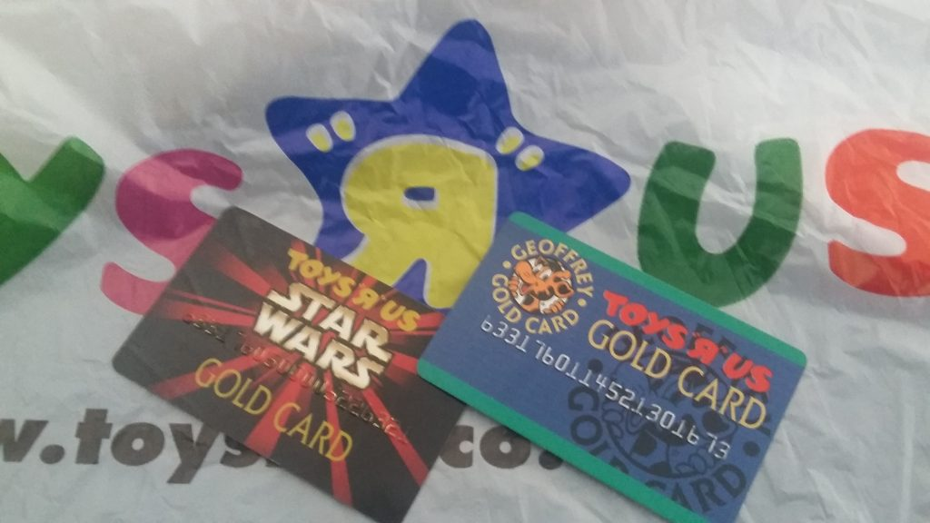 Toys R Us Loyalty Cards - regular and Star Wars