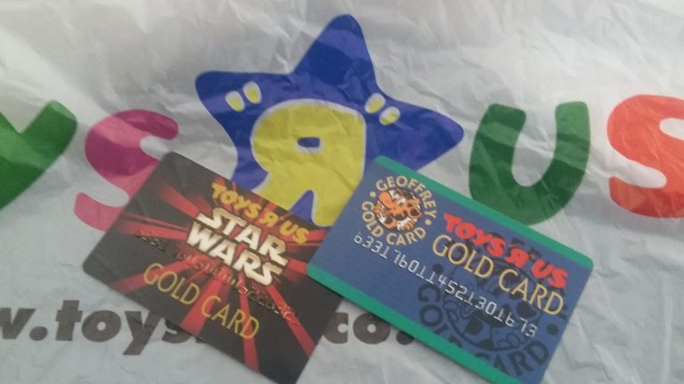 Toys R Us Star Wars and regular loyalty cards.