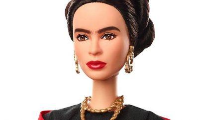 Frida Kahlo Barbie Doll part of the Inspiring Women Series - head