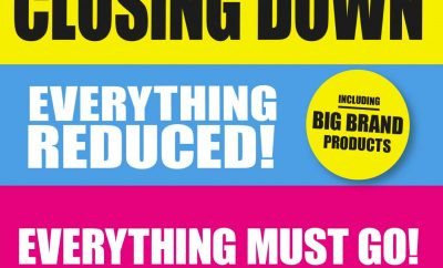 Toys R Us closing down sale advert - everything reduced - everything must go