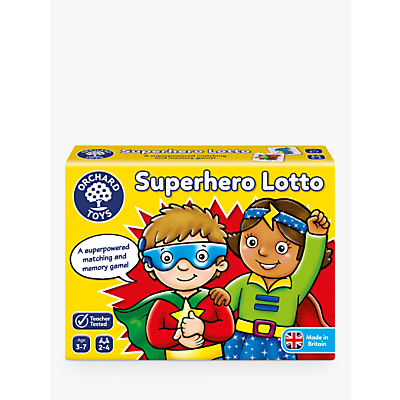 Picture of Orchard Toys Superhero Lotto Match and Memory Game