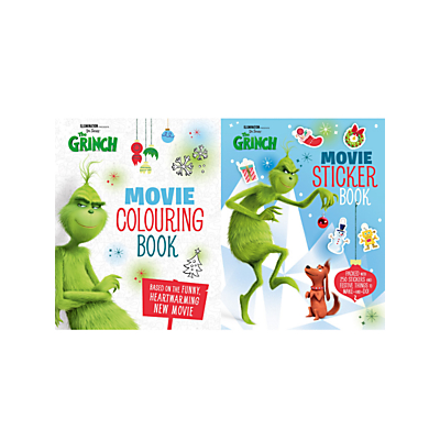 Picture of The Grinch Movie Colouring Book and Sticker Book, Pack of 2