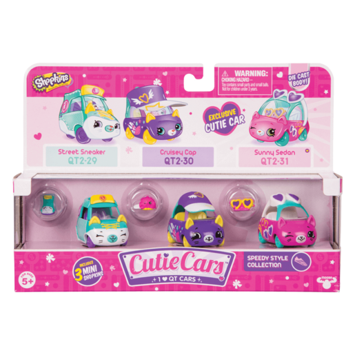 Picture of Shopkins Cutie Cars 3 Pack - Speedy Style Collection