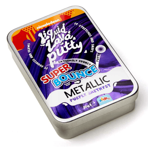 Picture of Nickelodeon Liquid Lava Putty Super Bounce Metallic - Purple Amethyst