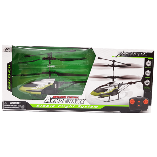 Picture of Armor Hawk Stable Flight Remote Control Helicopter - Green