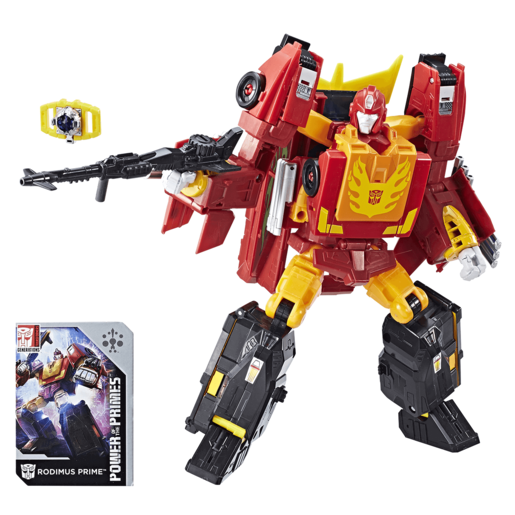 Picture of Transformers Generations Power of the Primes Leader Class Figure - Rodimus Prime