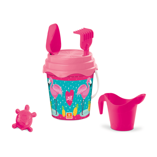 Picture of Flamingo Bucket Set 17cm With Accessories