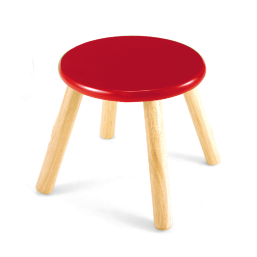 Picture of Wooden Stool 30cm - Red