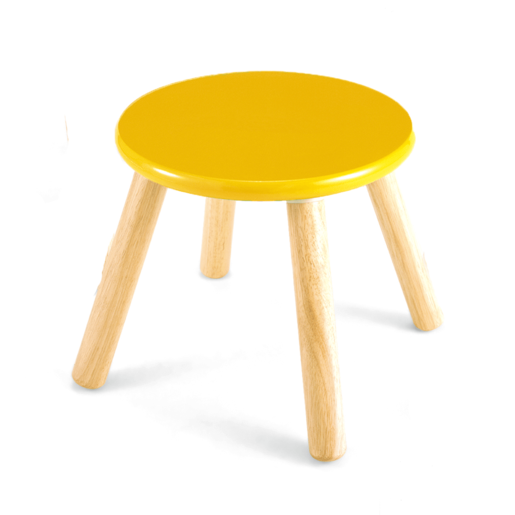 Picture of Wooden Stool 30cm - Yellow