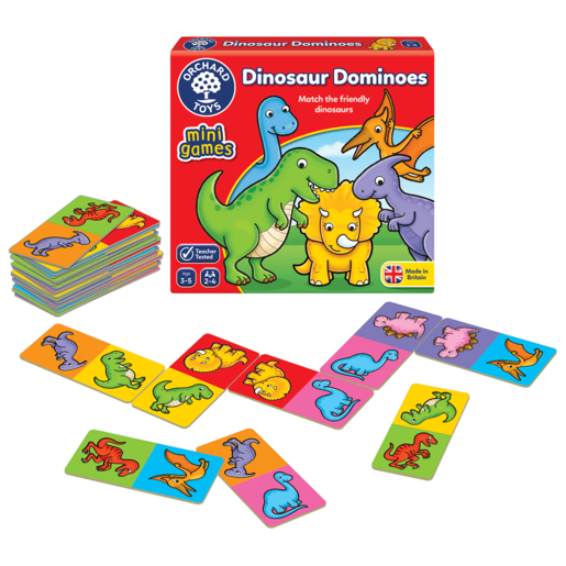Picture of Orchard Toys Mini Game - Dinosaur Dominoes