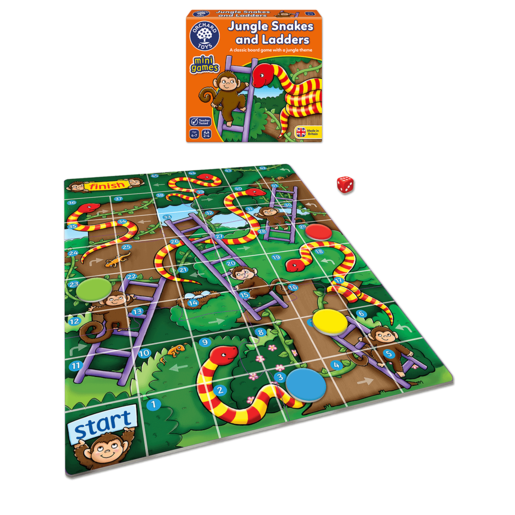 Picture of Orchard Toys Mini Game - Jungle Snakes and Ladders