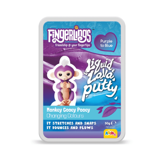 Picture of Fingerlings Liquid Lava Putty Monkey Gooey Pooey - Purple To Blue