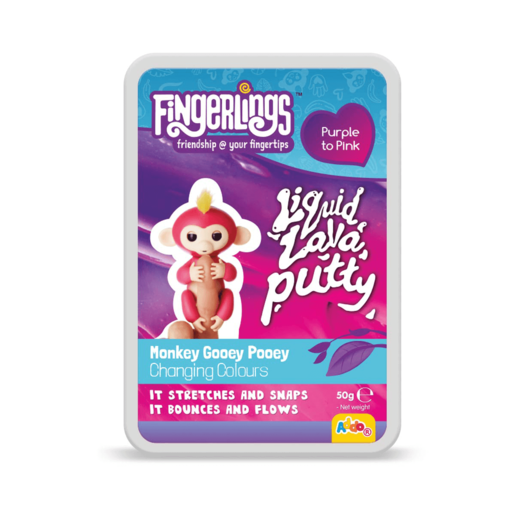 Picture of Fingerlings Liquid Lava Putty Monkey Gooey Pooey - Purple To Pink