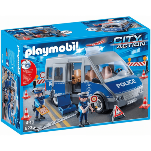 Picture of Playmobil 9236 City Action Policemen with Van with Flashing Lights & Sound