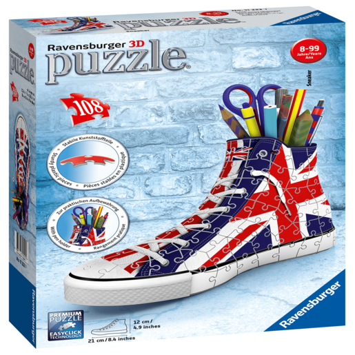 Picture of Ravensburger British Flag Sneakers 3D Jigsaw Puzzle - 108pc