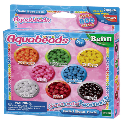 Picture of Aquabeads Solid Bead Pack - Multi-coloured