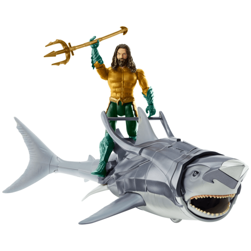 Picture of DC Comics Aquaman 15cm Action Figure and Warrior Shark