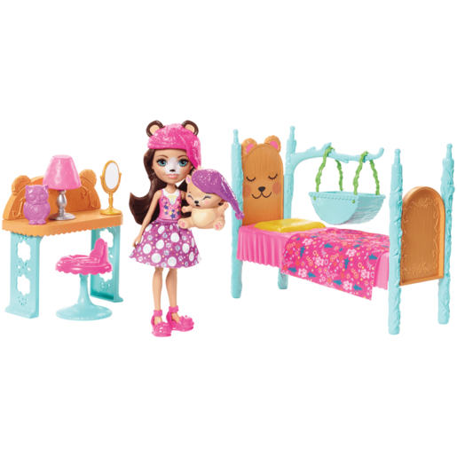 Picture of Enchantimals Dreamy Bedroom Playset - Bren Bear Doll and Snore Figure