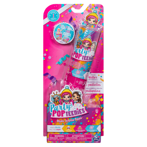 Picture of Party PopTeenies – Double Surprise Popper – Pack of 4 (Styles Vary)