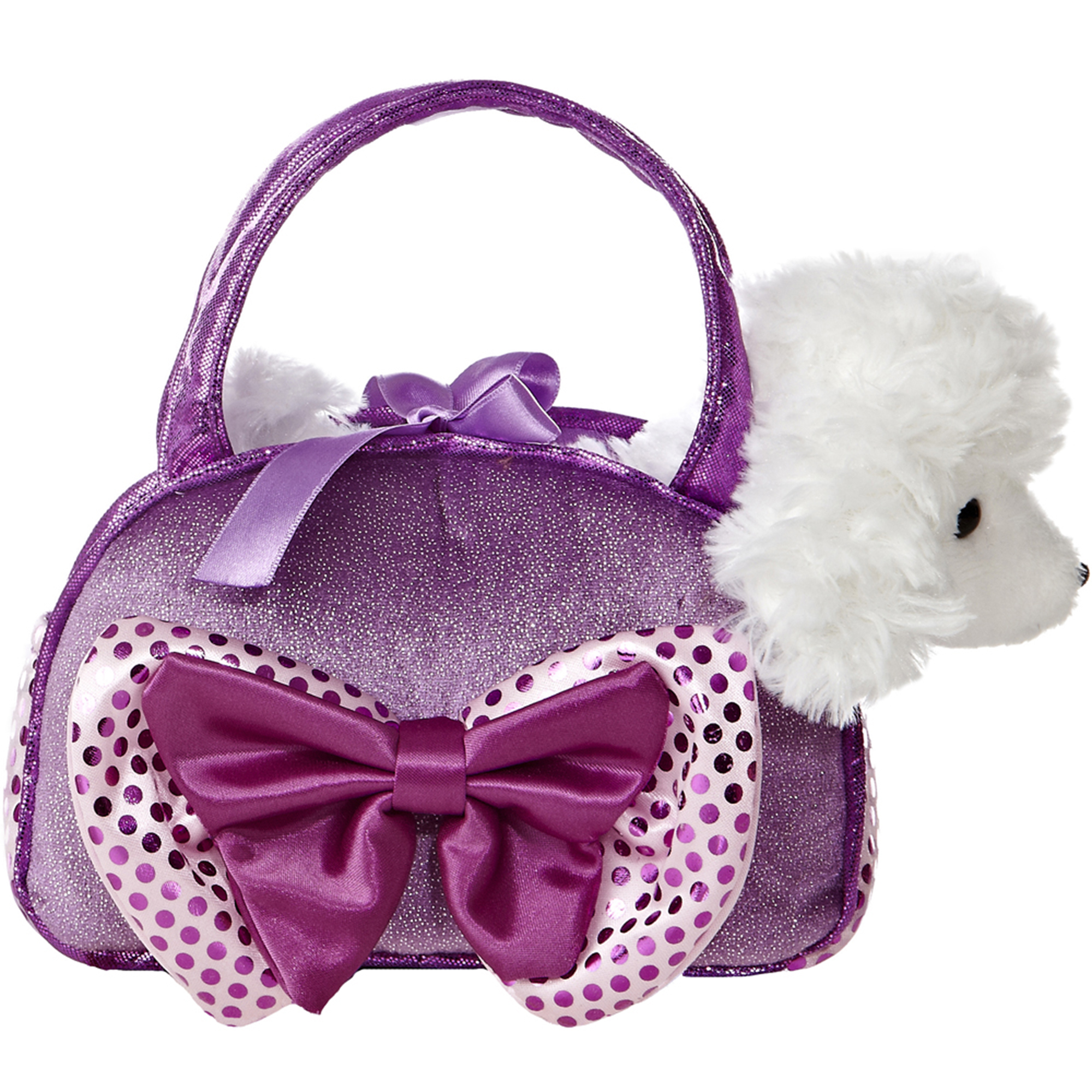 Picture of Fancy Pal 8-Inch Purple Poodle With Bow