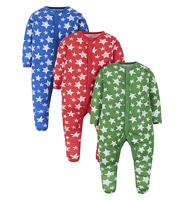 Picture of mini club 3 pack sleepsuits