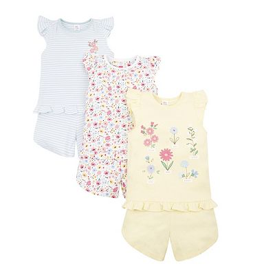 Picture of mini club 3 pack shortie pyjama