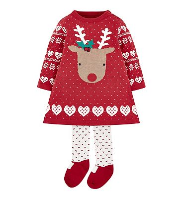 Picture of mini club xmas knitted dress set