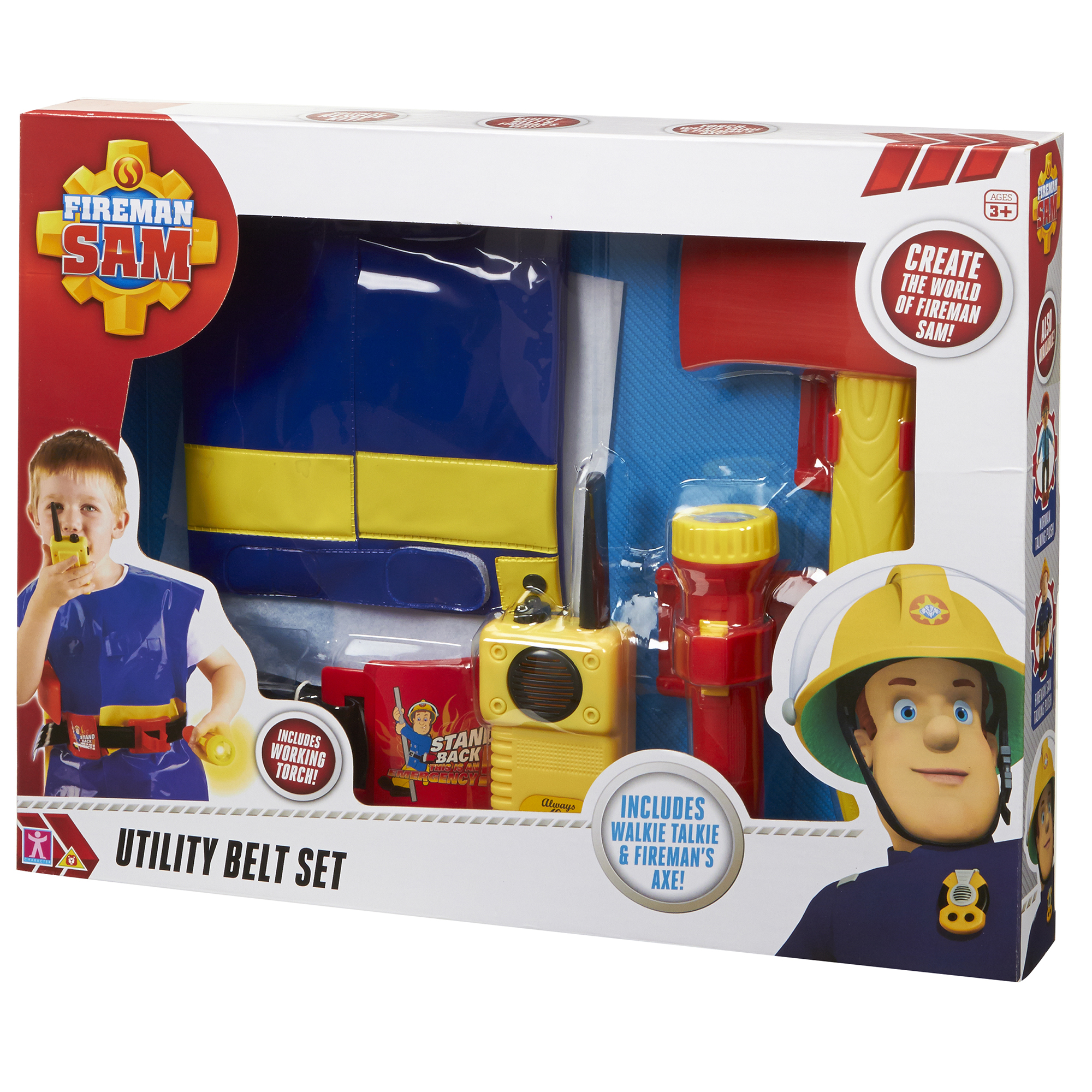 Picture of Fireman Sam Utility Belt With Jacket & Accessories