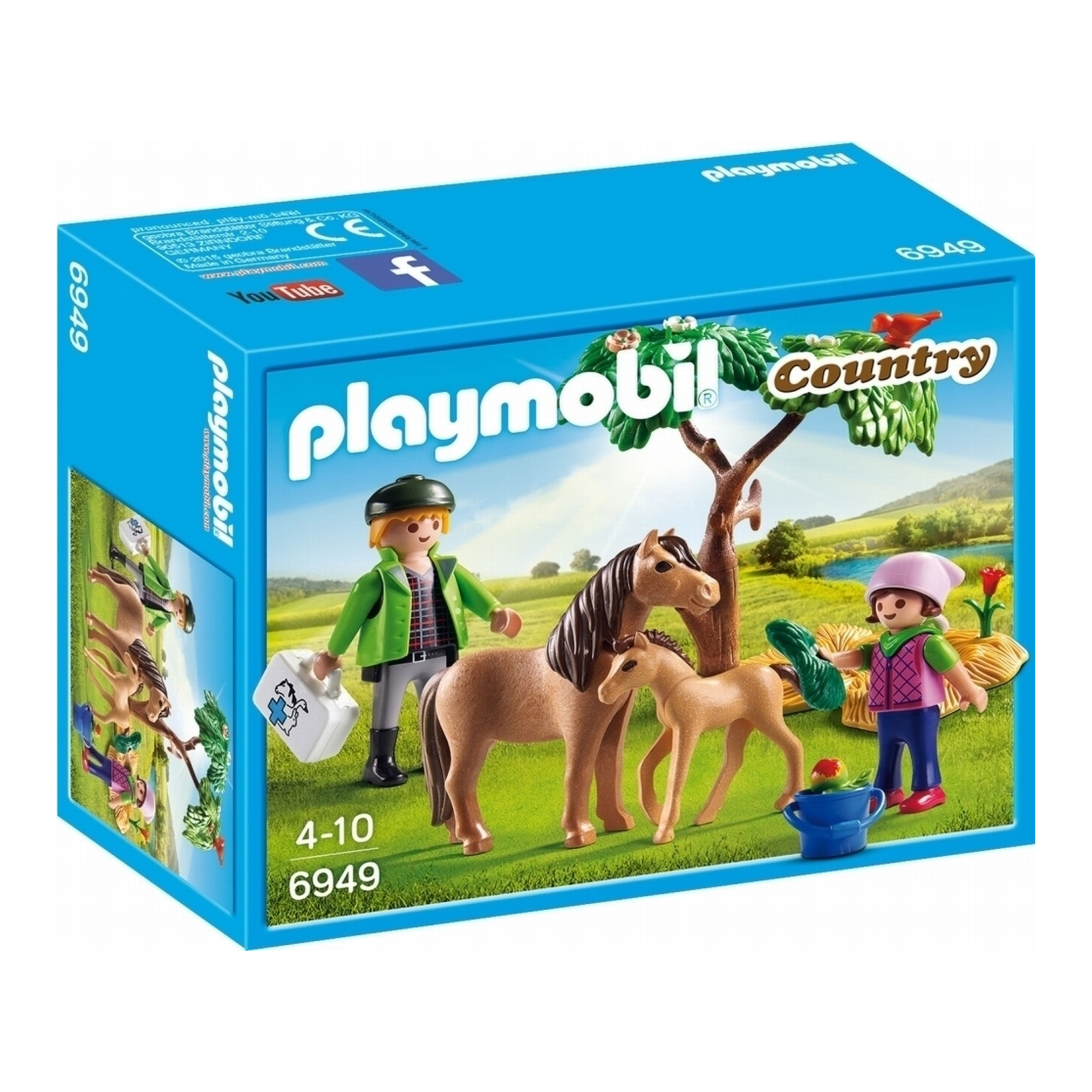 Picture of Playmobil Country Vet with Pony & Foal 6949