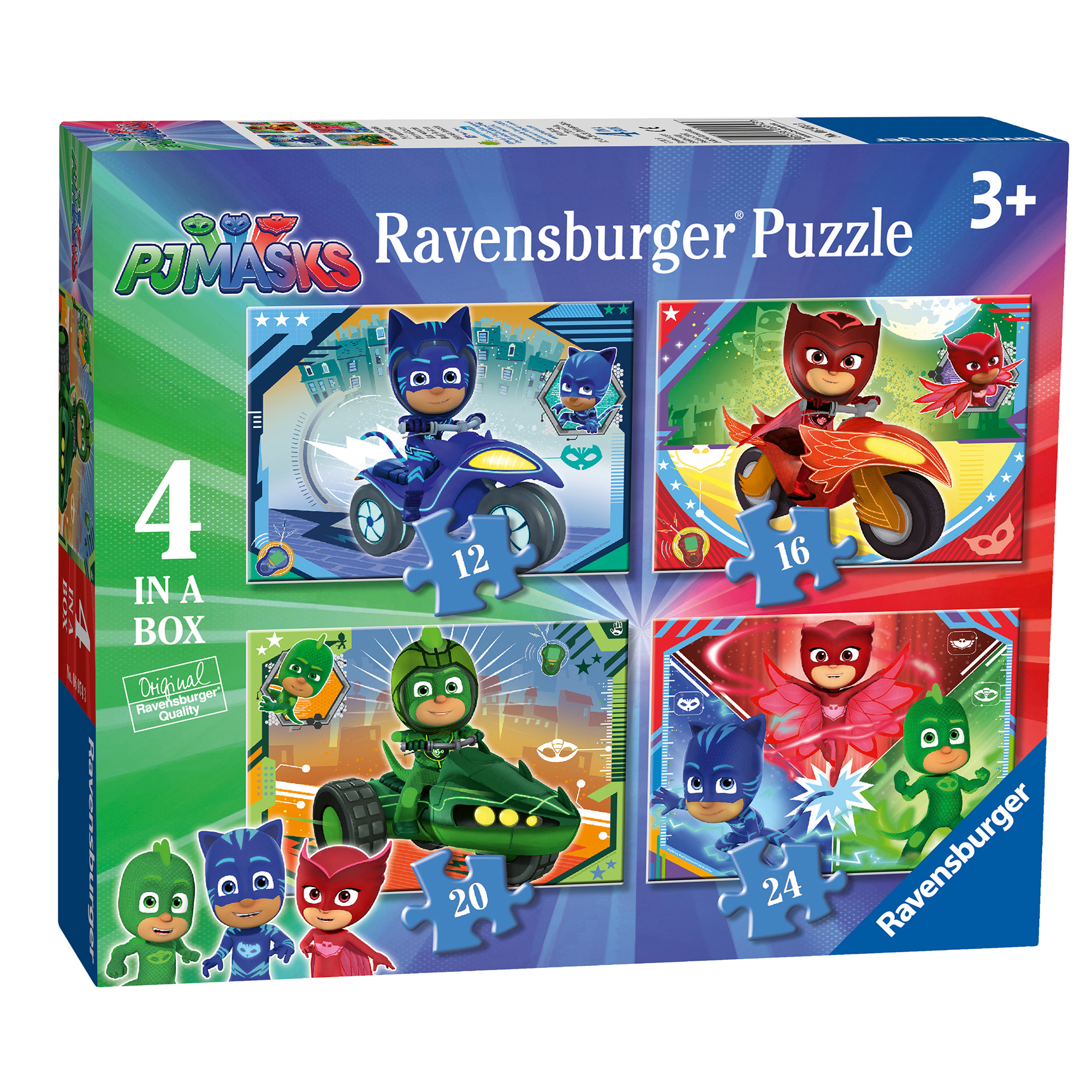 Picture of Ravensburger PJ Masks 4 Puzzle Pack