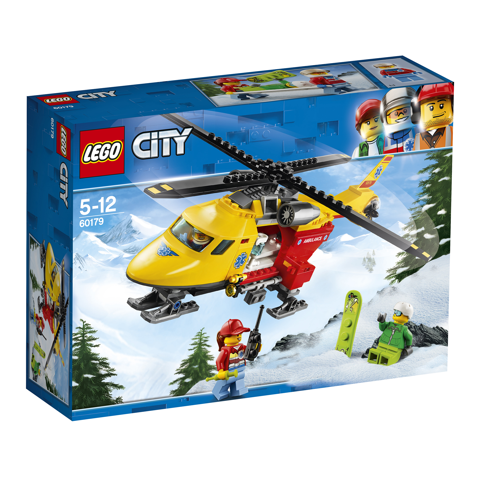 Picture of LEGO City Ambulance Helicopter 60179