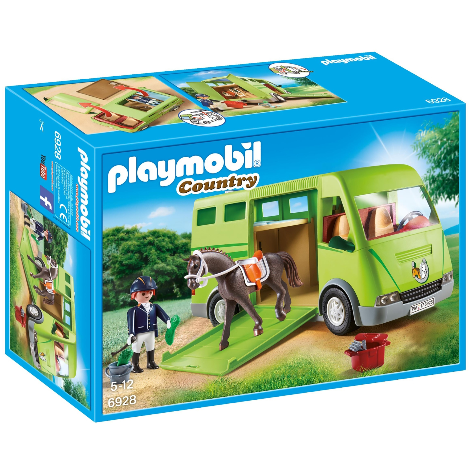 Picture of Playmobil Country Horse Box With Opening Side Door 6928