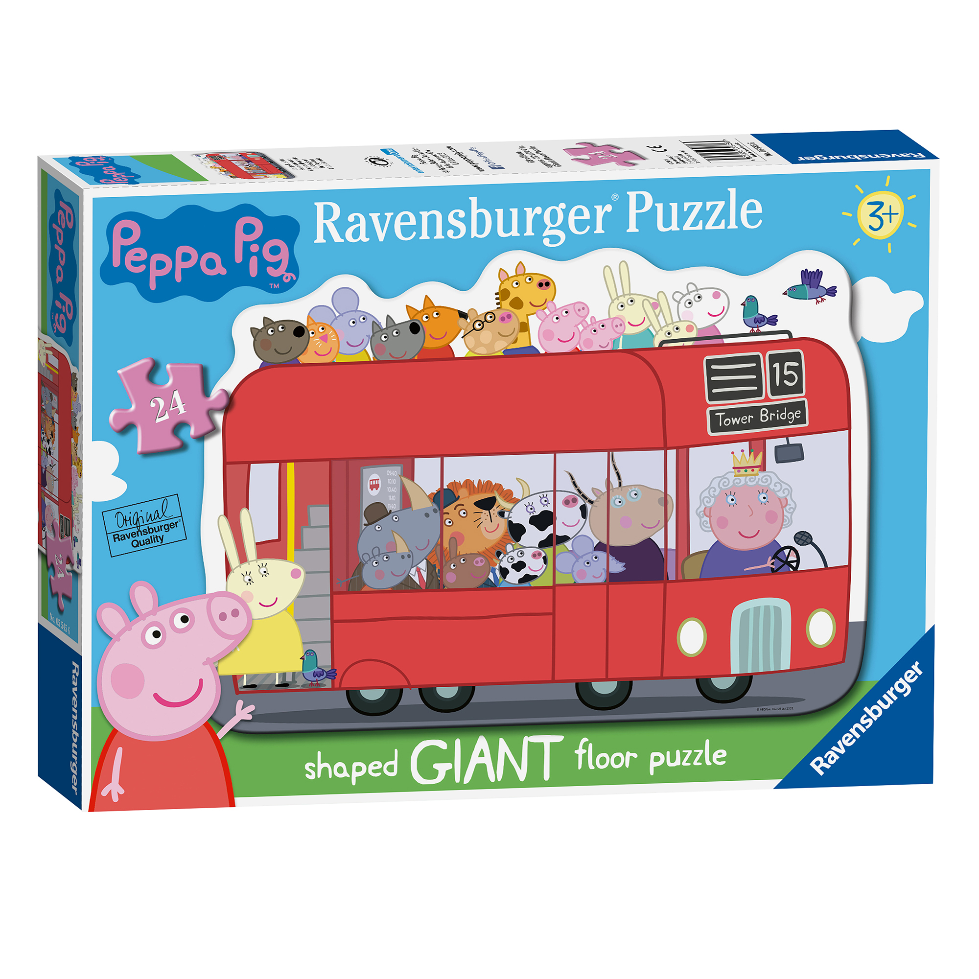 Picture of Ravensburger Peppa Pig London Bus 24 Piece Giant Puzzle