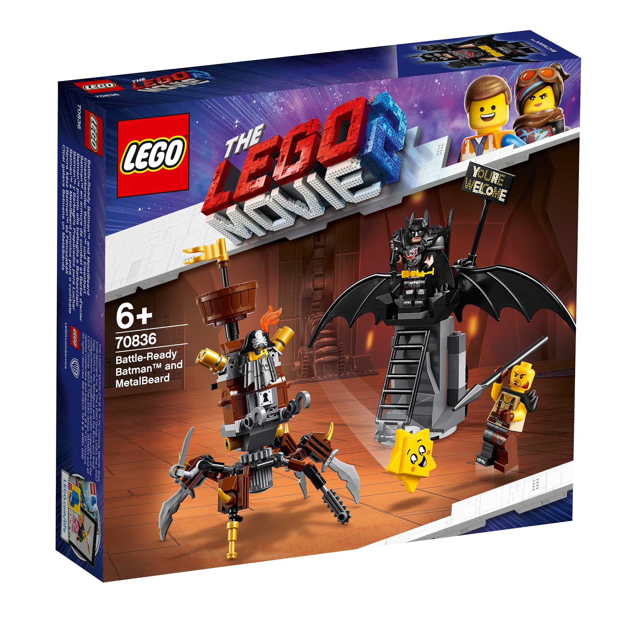 Picture of LEGO Movie 2 Battle-Ready Batman & MetalBeard 70836