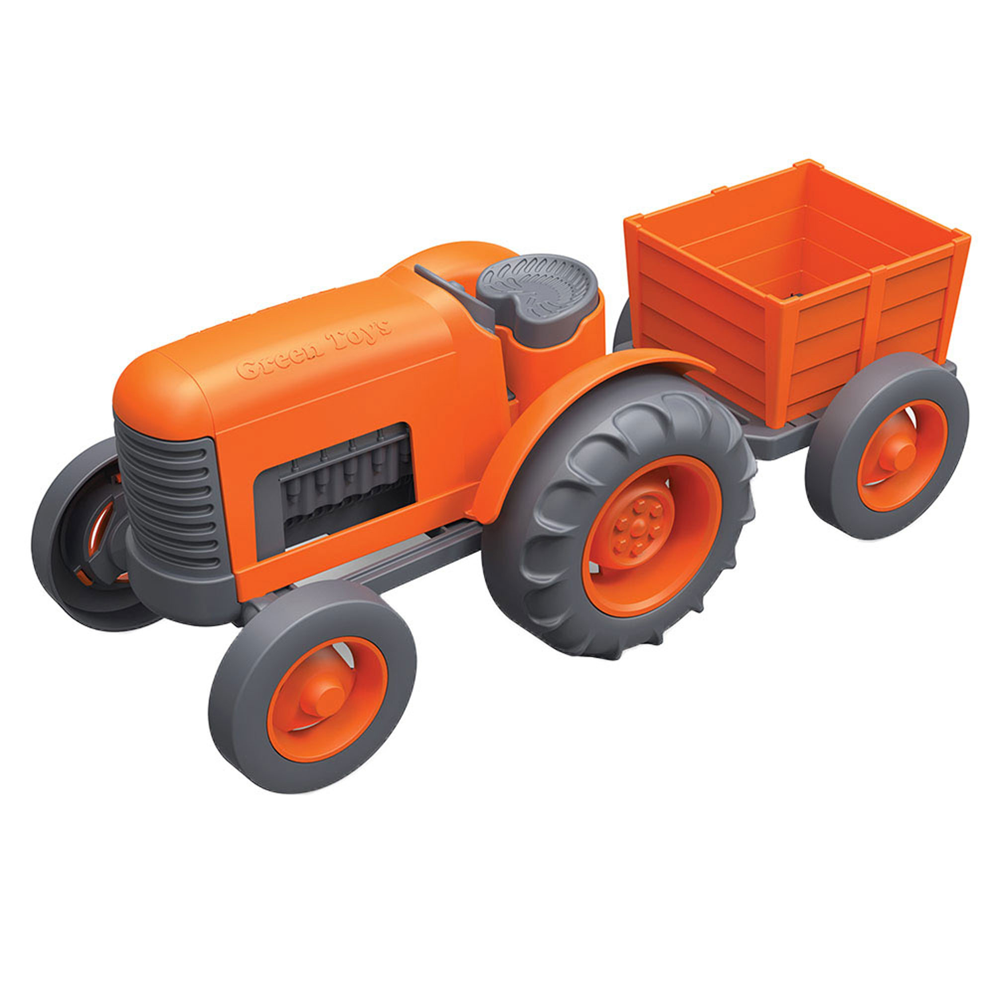 Picture of Green Toys Orange Tractor Set