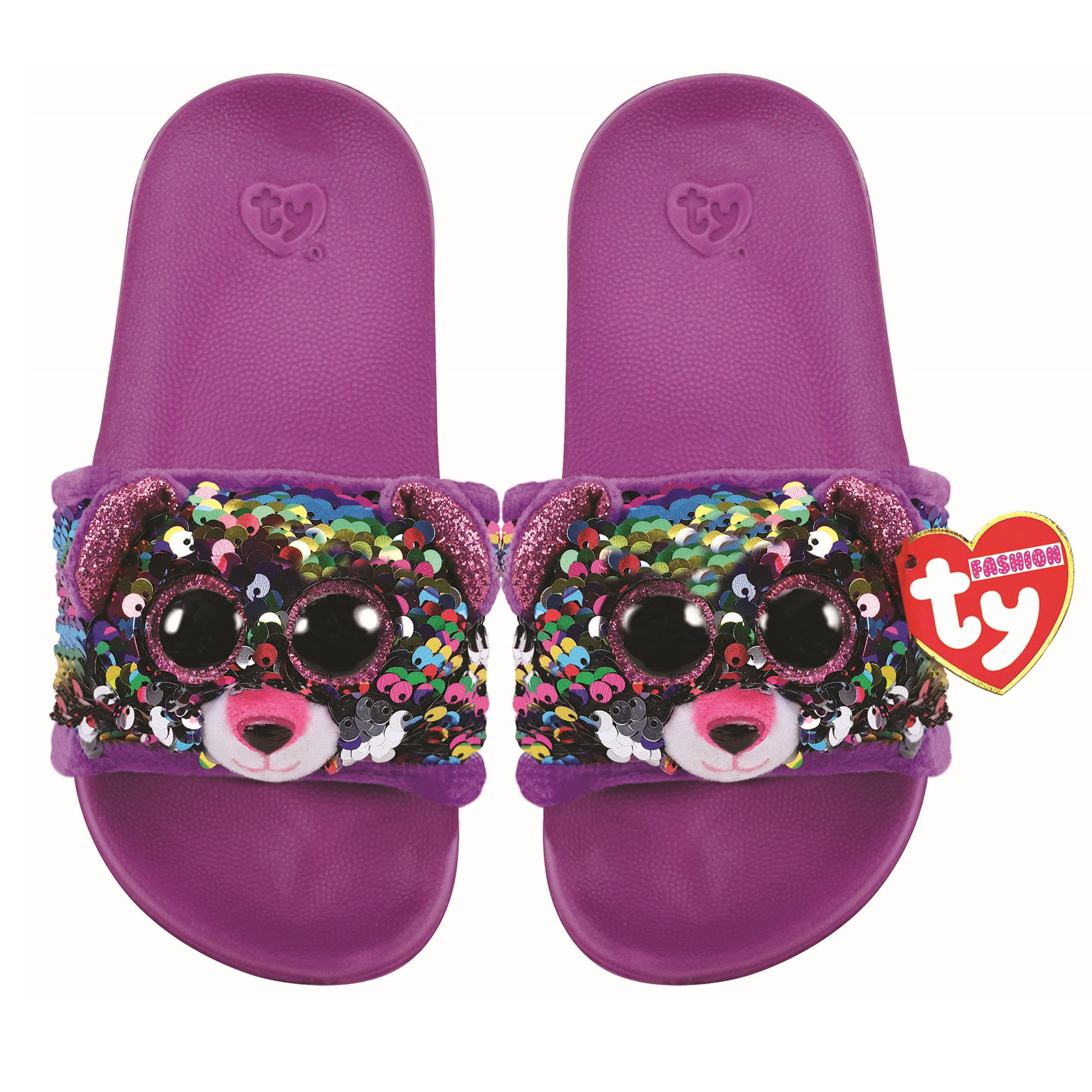 Picture of TY Dotty Leopard Flip Slides Sandals Large