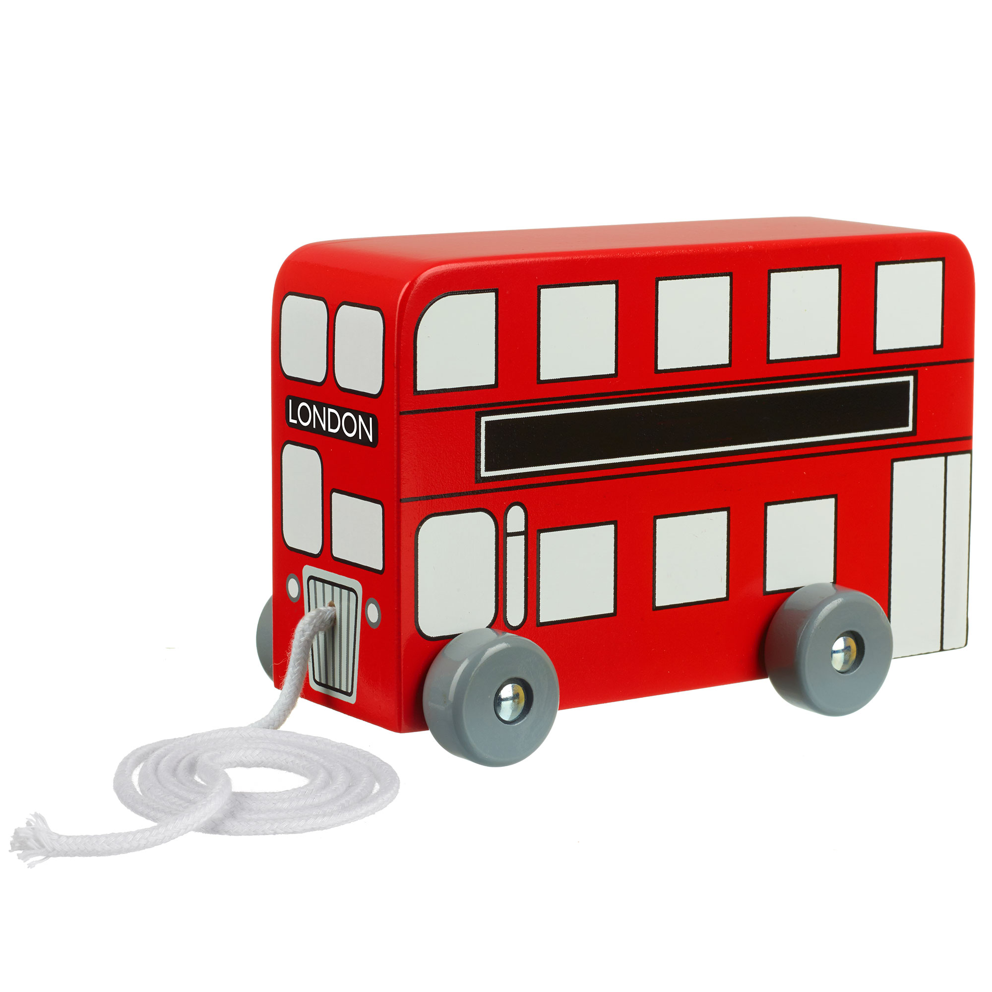 Picture of London Bus Pull Along Bus Toy