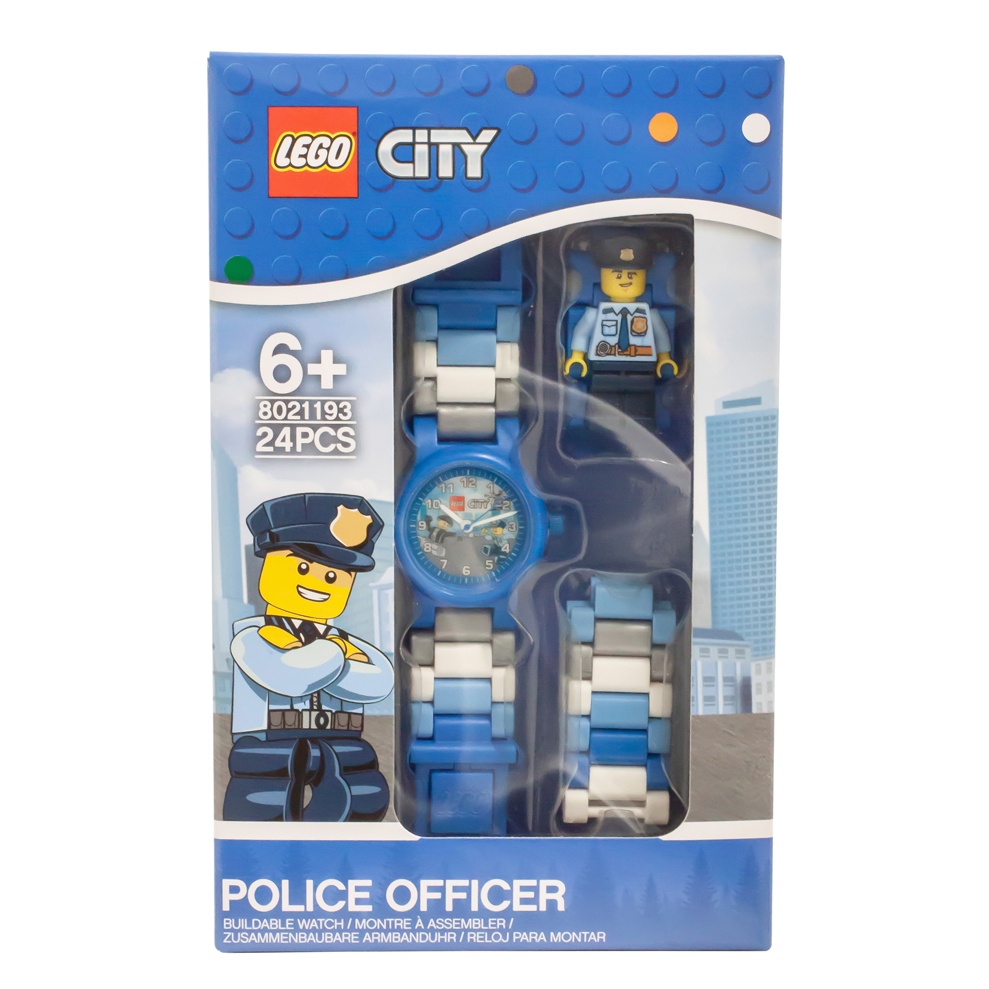 Picture of LEGO City Police Officer Figure Link Buildable Watch