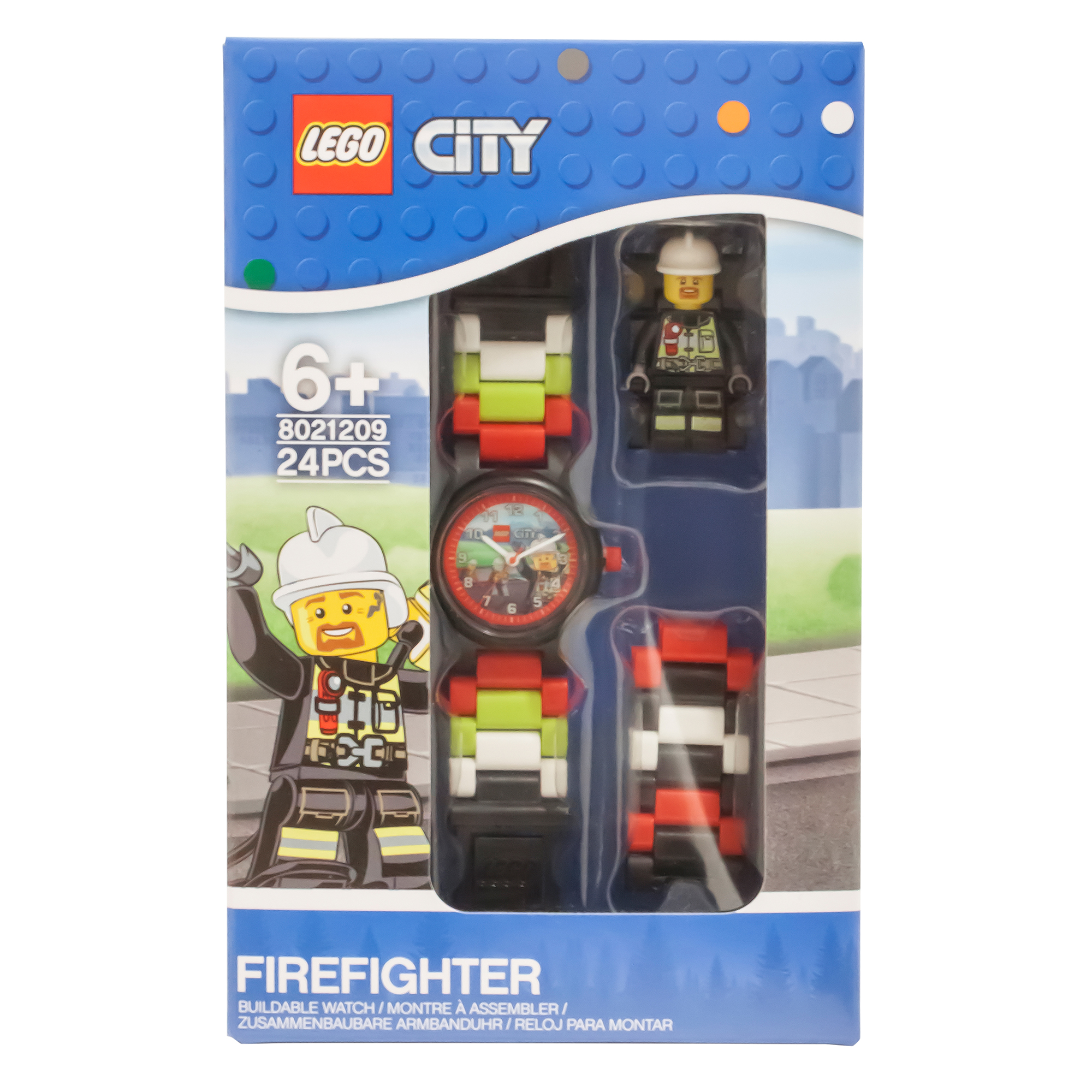 Picture of LEGO City Firefighter Figure Link Buildable Watch