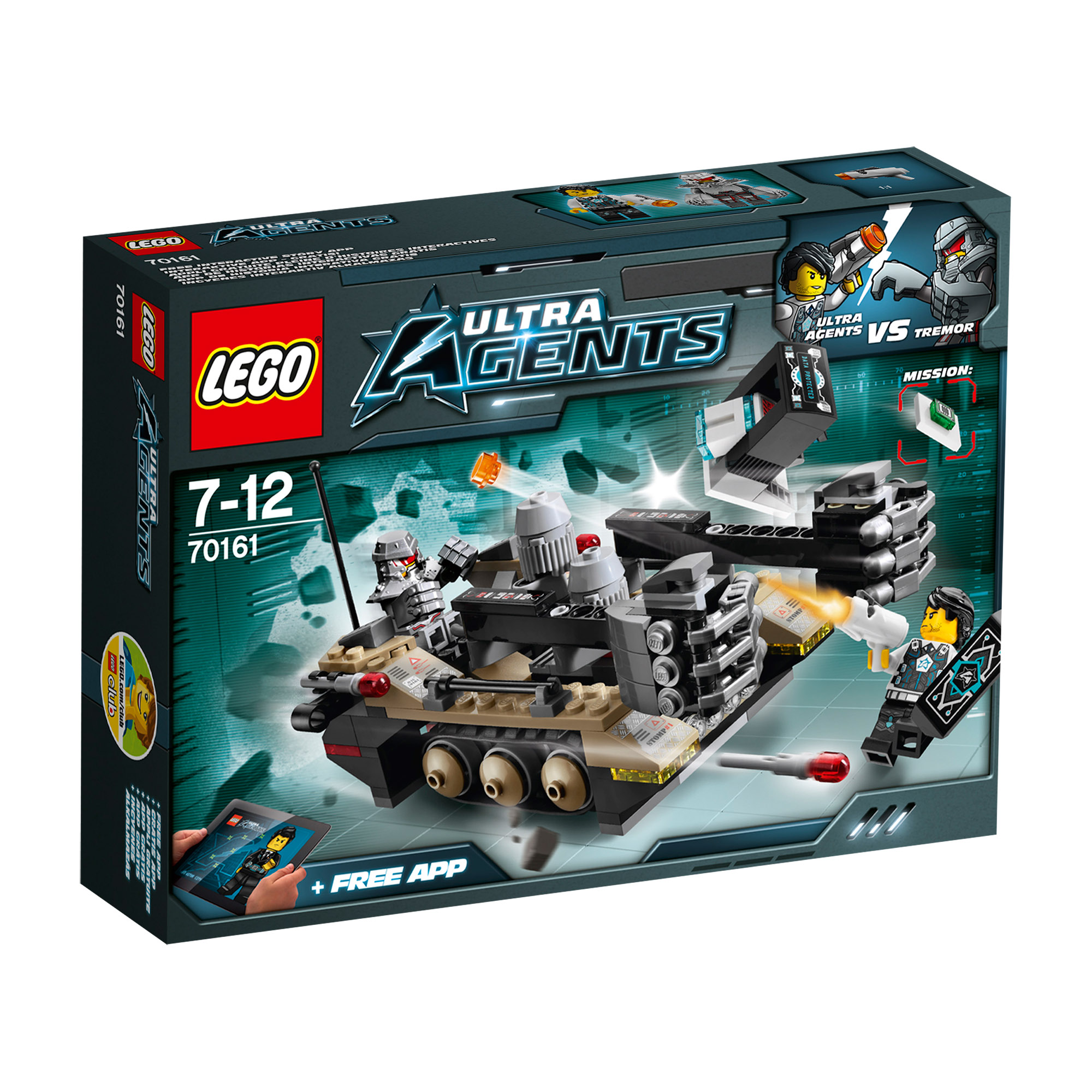 Picture of LEGO Agents Tremor Track Infiltration 70161