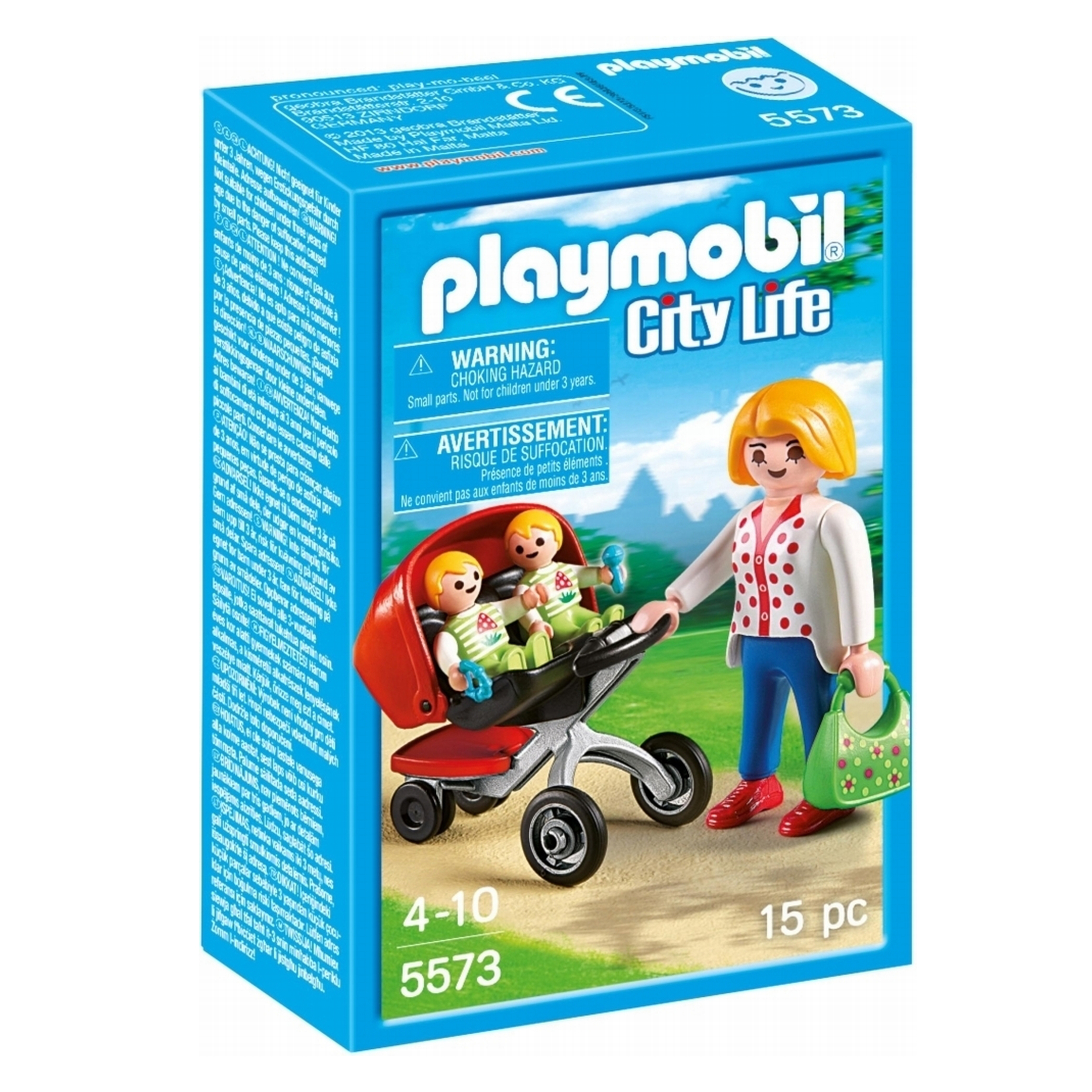 Picture of Playmobil City Life Mother With Twin Stroller 5573
