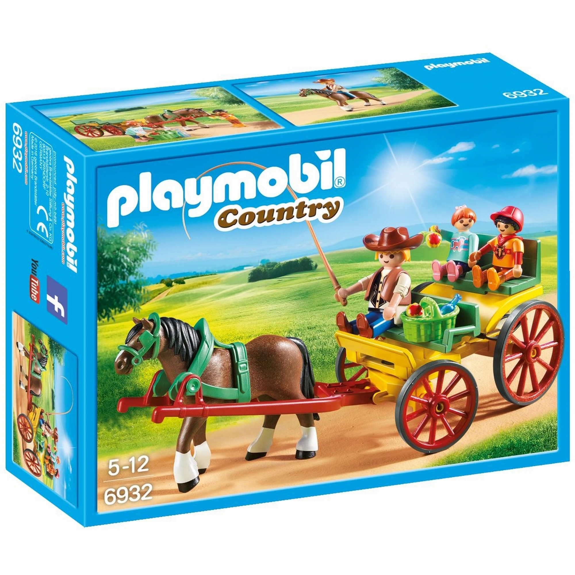 Picture of Playmobil Country Horse Drawn Wagon 6932