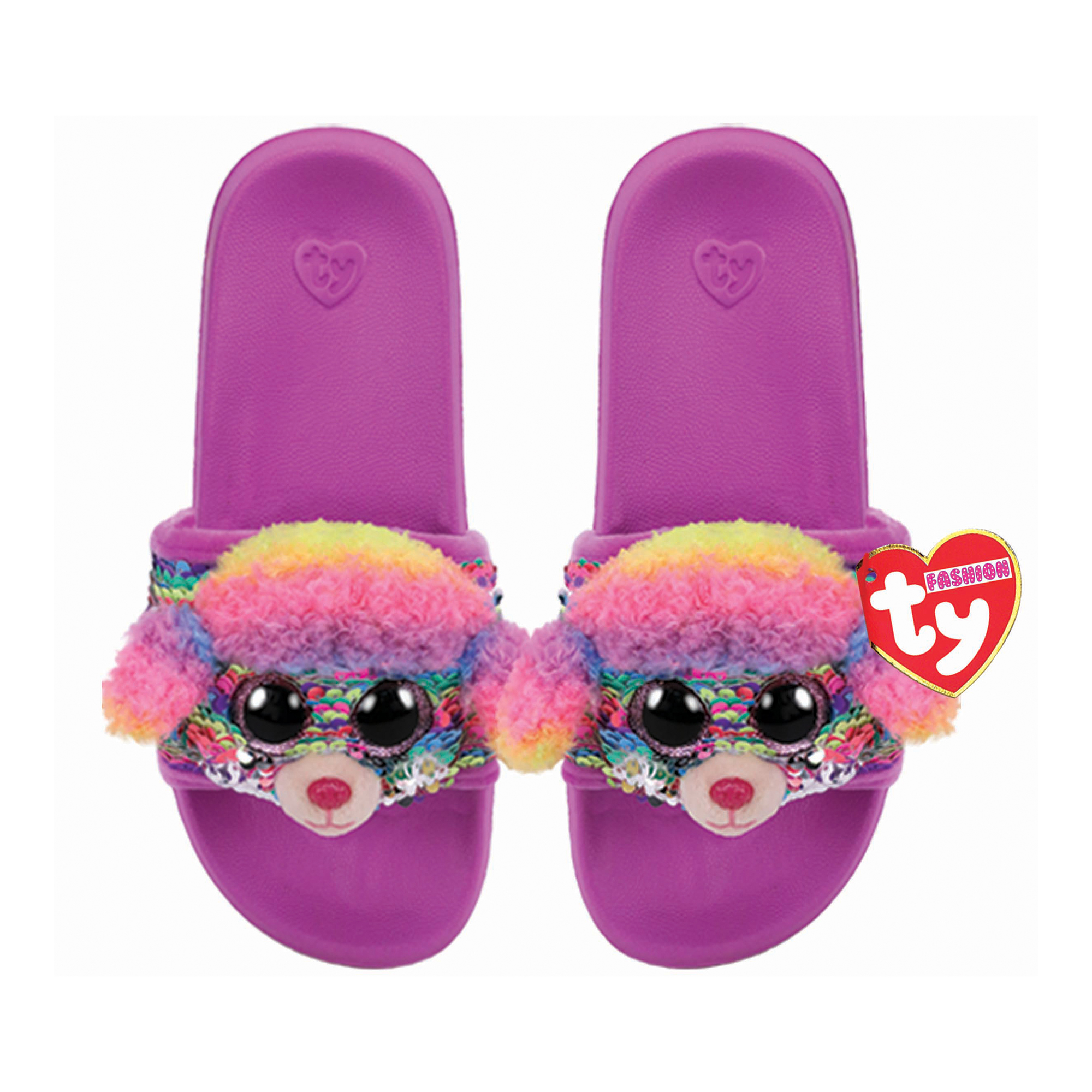 Picture of TY Rainbow Flip Slides Sandals Small