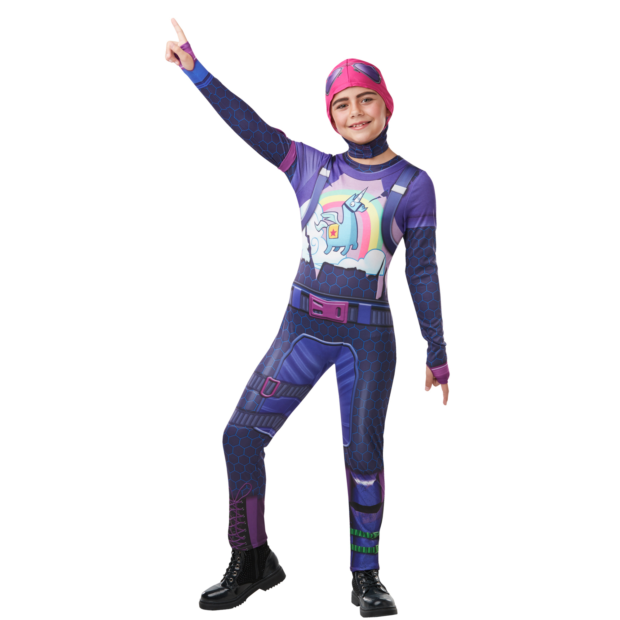 Picture of Fortnite Tween Brite Bomber Top and Snood Large