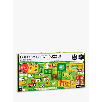 Picture of Petit Collage At The Farm Finger Maze Puzzle, 10 Pieces