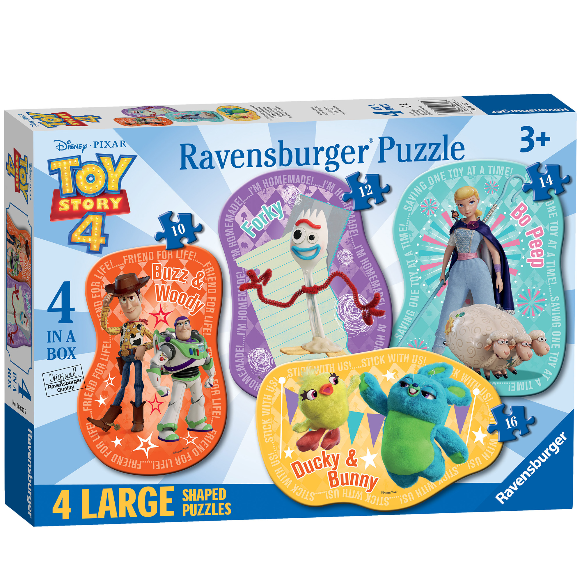 Picture of Ravensburger Disney Toy Story 4, 4 Large Puzzles