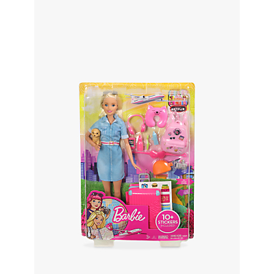 Picture of Barbie Travel Doll and Accessories Set
