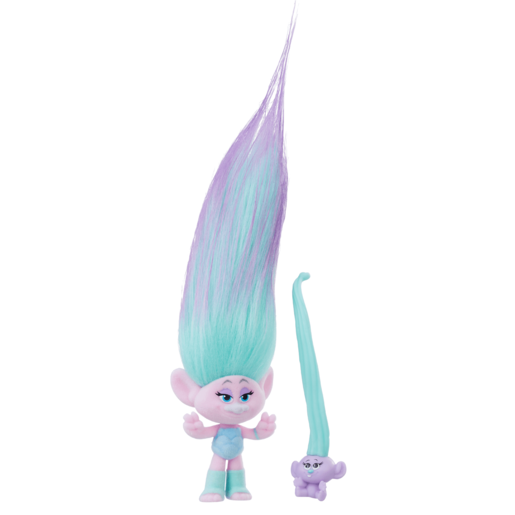 Picture of Dream Works Trolls Hair Raising Troll and Baby - Satin
