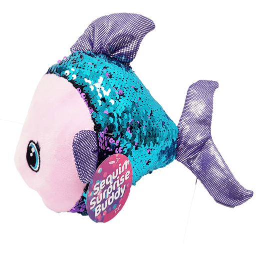 Picture of Sequin Surprise Soft Toy - Fish